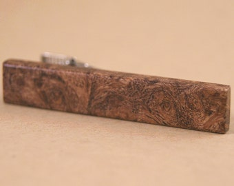 Tie Clip made of Texas Mesquite wood tie bar