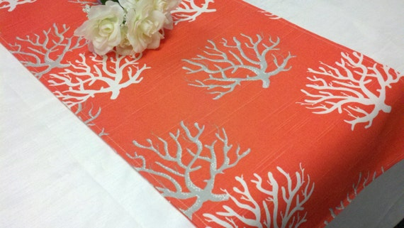 Items similar to sample sale runner 25 coral branches for Table coral sample