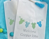 Baby Shower Candy Bags - Baby Boy Shower - Favor Bags