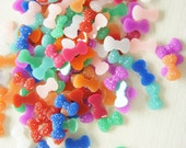 Assorted 50 pcs Teeny Nail Size Bling Bow Cabochon (7mm13mm) BW182