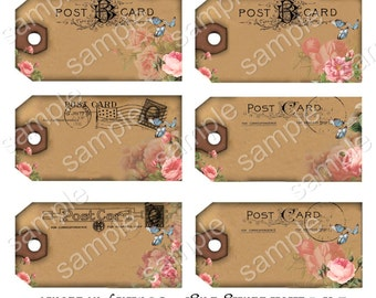 Instant Download  - 5HT Hang Tags-   Digital Download - Printable  Digital Collage Sheet