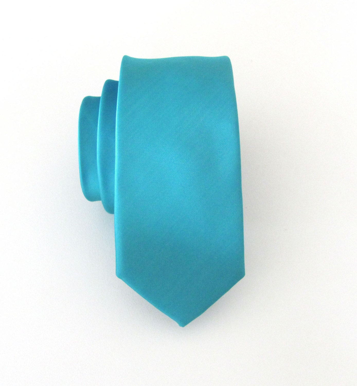 mens ties necktie teal blue light turquoise tie with