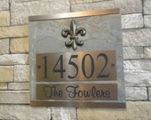House Numbers Fleur De Lis ADDRESS Plaque New Orleans Louisiana