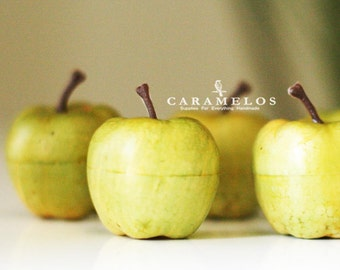 6 Faux Artificial Green Apples Miniature
