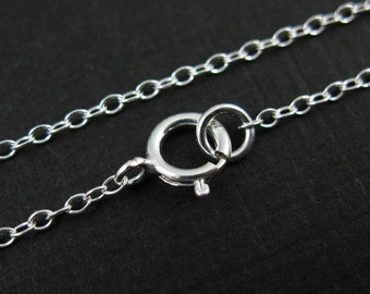 Sterling Silver Necklace , Sterling silver Chain,Necklace -Small Cable Oval Chain - Finished Necklace for Pendant - All sizes -SKU: 601044