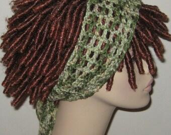 Shades of Green Dread Headband