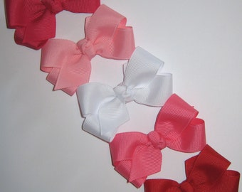 CUSTOM Value Package of 5 Small Basic Grosgrain Hair Bows - You choose from over 100 available colors