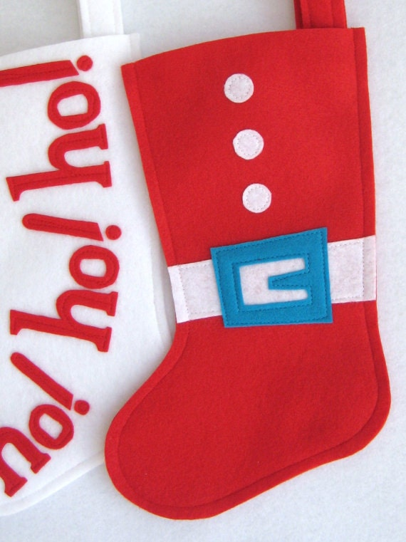 Items Similar To Modern Felt Christmas Stocking Santa 39 S