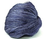 Blue Jeans--hand dyed lace weight yarn, BFL and silk, (875yds/100gm)
