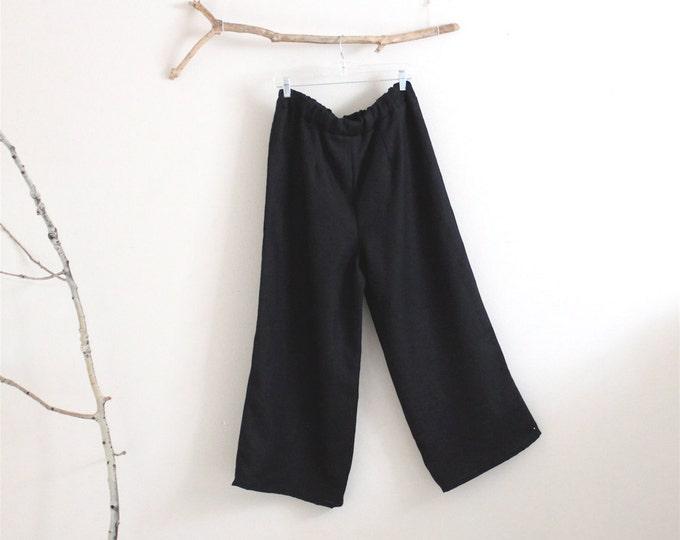 custom simple linen pants / minimalist linen pants / straight leg linen pants / custom size  length and color / plus size / petite