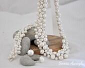 Pearl Wedding,Bridal Freshwater Pearl  Necklace,Wedding Accessories ,Wedding Necklace,  jewelry set  pearl, ivory bridal pearl choker