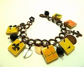 I Love Paris Jadore Scrabble Tile Charm Bracelet
