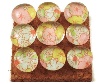 Decorative Push Pins  Pink Floral Cork Board Pins  Thumb Tacks Funky Push Pins in Cherish  (P26)