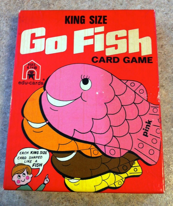 Vintage go fish card game by sixthstreetmarket on etsy for Go fish cards