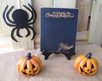 Chalkboard  - Happy Halloween Witch Blackboard with Easel -  Item E1597