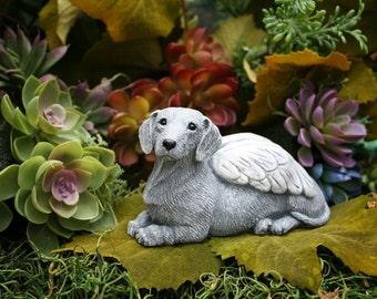 Dachshund Dog Angel Statue Pet Memorial Dog Garden Art Sculptures