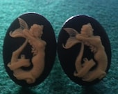 Mermaid, Mermaid cufflinks, Nautical, nautical cuff,pendant,cameo cufflinks,Mermaid pendant, pin up, tiki,retro cufflinkst
