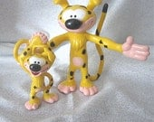 "Marsupilami Disney PVC Toy - Vintage Disney Characters - Pose-able 6"" and 3"" -2 for this price"
