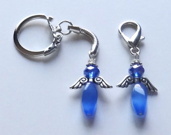 Prostate Cancer Angel Purse Charm or Key Chain - ACS Relay for Life Donation - Ready to Ship