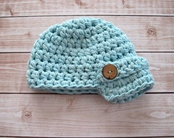 Baby Boy Coming Home Hat, Baby Boy Cotton Hat, Baby Boy Summer Hat, Baby Boy Clothes, Baby Boy Gift, Blue, Newborn, Infant