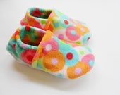2 Pairs of Custom Bliss Fleece Slippers with Grip Tight Soles for Mom & Daughter