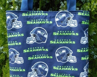 Seattle Seahawks Football Tote Bag Handmade Purse Fully Lined Limited