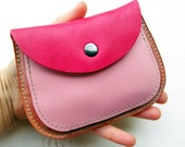 MERRY 2475 Handmade, Leather clutch Large Purse by Fairysteps