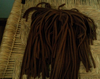 100 Mill Dyed Wool Rug Hooking Strips Vermont Maple Syrup Brown