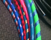 Custom Toddler Hula Hoop Sparkle Simple Stripes 25 inch outside diameter choose colors