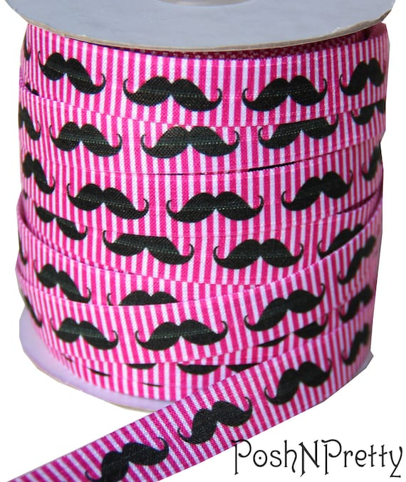"8 yards 5//8/"" Black Mustache Elastic Ribbon Trim"
