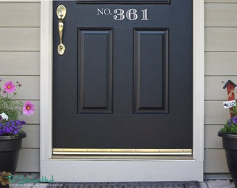 No with Your Street Numbers Front Door - Door Decals - Home Decor - Wall Lettering - Custom House Numbers - Address Decals Stickers 1587