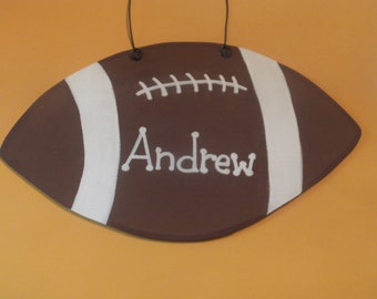 Boy's Football Wall Hanging - Personalized