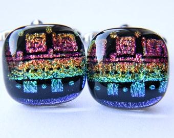 Handcrafted Genuine Dichroic Glass Cufflinks