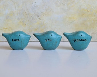 Gifts for grandma / Christmas gift for her / 3 love you grandma birds / gift for women / birds gift / gifts for grandmas