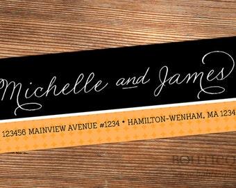 Personalized Return Address Label Sticker - Michelle Diamond