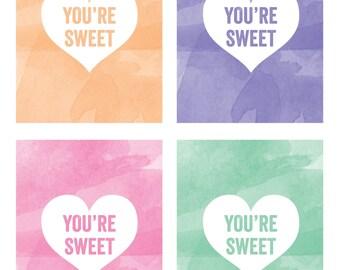 Conversation Hearts Valentines PRINTABLES