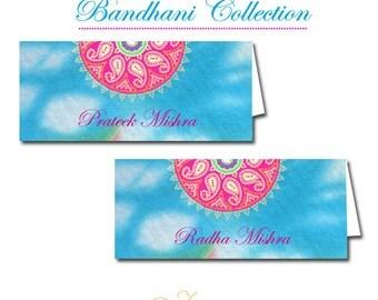 Set of 50 Bandhani Name Place Cards