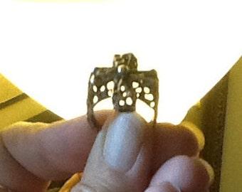 CROSS Ring HandCast Sterling ORIGINAL Design Fits Size 7.5-8