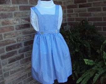 Dorothy's pinafore and hair ribbons from Wizard of OZ, Halloween costume