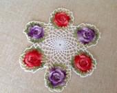 Vintage Crochet Doily - Flowers