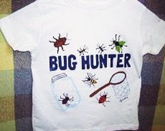 Bug Hunter Shirt, Kids Novelty Shirt, Boys Clothing, Insect Shirt, Bug Catcher Shirt