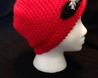 Crocheted Red Hat (women's)
