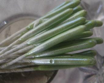 Millinery Flower Stamen Germany Pearly Green Flower Peps 48 Stems  G4