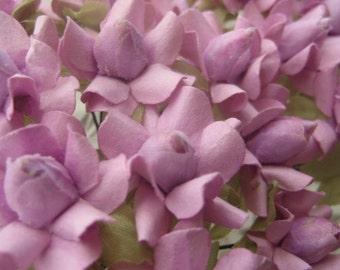 Paper Millinery Flowers 24 Handmade Sweet Lavender Posies