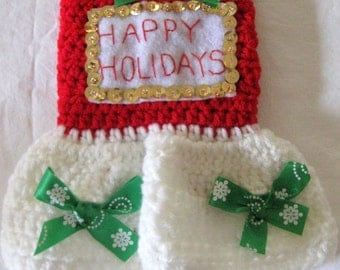 "XXS Dog Sweater ""Happy Holidays"" New"
