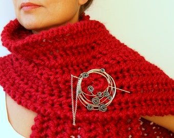 Shawl Brooch Become Rose Garden Statement  Brooch - Pin