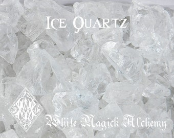 Ice Quartz Crystals from Brazil Crystal Clear Raw Diamond Nuggets . Small Set 5 & Medium Set 2