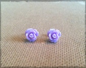 Lilac Rose Cabochon Studs