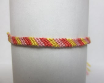 Everything's Peachy Candy-Cane Friendship Bracelet