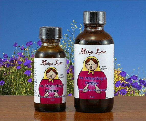 Attracting a Partner, Love Yourself, Organic Bath, Body and Massage Oil -- Reiki-Infused Flower Essence Aromatherapy